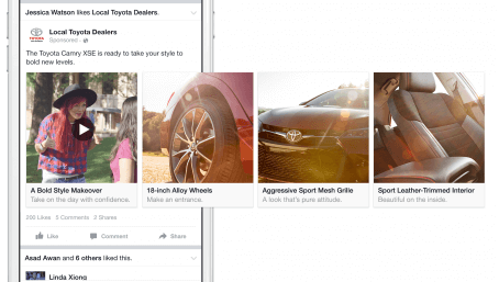 carousel facebook ad format