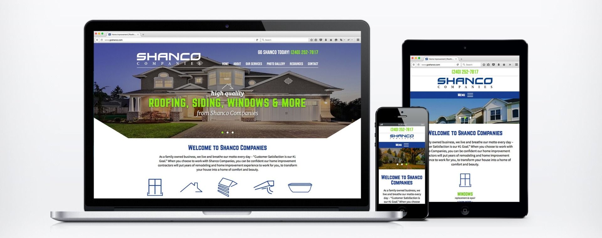 example of a contractor website design